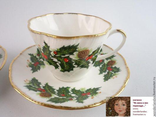 Винтажная посуда. Ярмарка Мастеров - ручная работа. Купить Рождественнские чайные пары, Англия. Handmade. Комбинированный