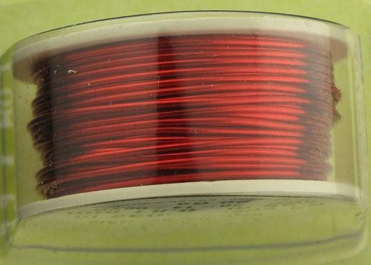 Проволока медная 0.81мм (20ga) красного цвета Artistic Wire (США)