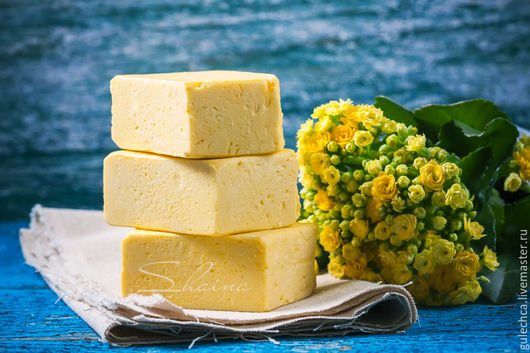 Мыло ручной работы. Ярмарка Мастеров - ручная работа. Купить Мыло натуральное ланолиновое с облепихой (85% оливы). Handmade. Желтый