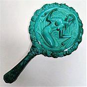 Винтаж handmade. Livemaster - original item Mirror with handle Hoffmann & Schlevogt 1930s. Czech Republic. Handmade.