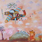 """Картины и панно ручной работы. Ярмарка Мастеров - ручная работа Картина """"Рыженький авиатор"""". Handmade."""