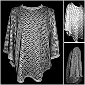 Одежда handmade. Livemaster - original item Associated from flax .Openwork poncho. Handmade.