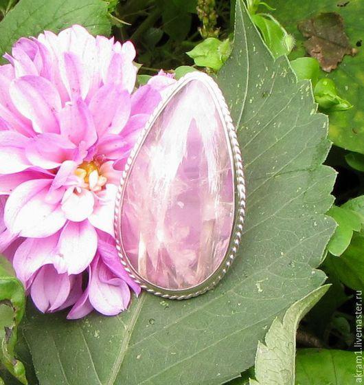"""Кольца ручной работы. Ярмарка Мастеров - ручная работа. Купить Кольцо """" Цветы осени"""" с розовым кварцем. Handmade. Розовый"""