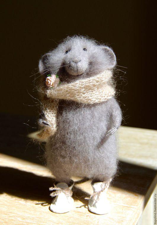 Игрушки животные, ручной работы. Ярмарка Мастеров - ручная работа. Купить Мышь домашняя. Handmade. Мышка, игрушка ручной работы