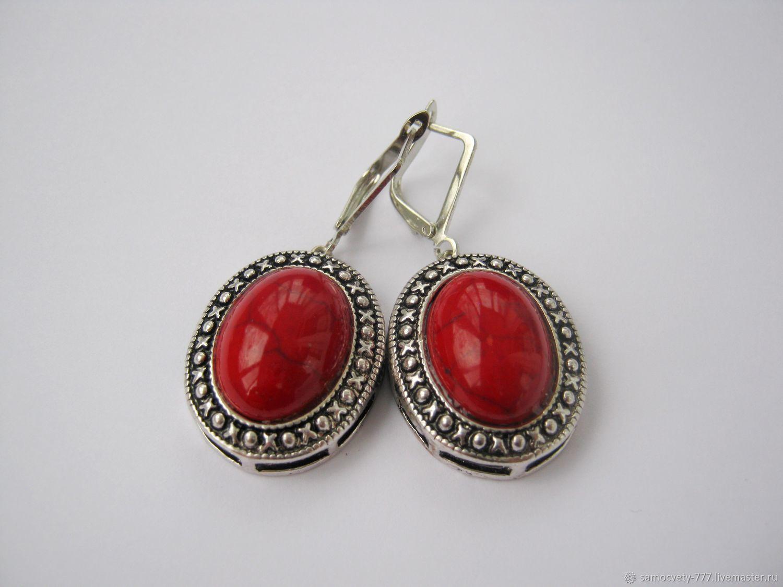 Beautiful coral earrings', Earrings, Feodosia,  Фото №1