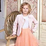 Юбки ручной работы. Ярмарка Мастеров - ручная работа Персиковая детская юбка пачка из фатина. Handmade.