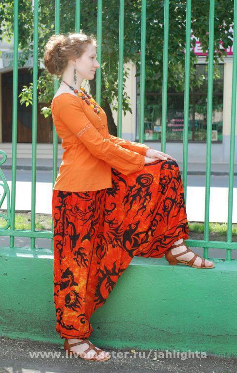 Этническая одежда ручной работы. Ярмарка Мастеров - ручная работа. Купить Штанцы. Handmade. Штанцы, афгани, вискоза