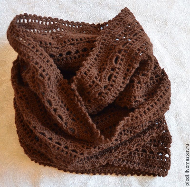 Brown Snood, double turn, Scarves, Moscow,  Фото №1