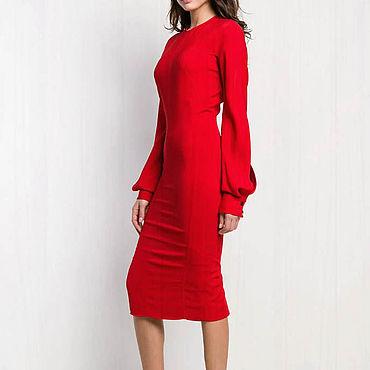 Одежда. Ярмарка Мастеров - ручная работа Красное платье женское 795В. Handmade.