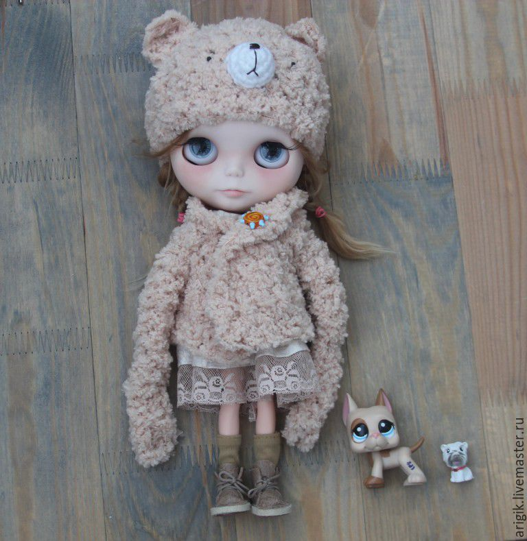 Hat + sweater, Clothes for dolls, Vidnoye,  Фото №1