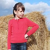 Работы для детей, ручной работы. Ярмарка Мастеров - ручная работа Кашемировый пуловер вязаный для девочки Carmen. Handmade.