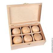 Подарки к праздникам handmade. Livemaster - original item 281810 (6)W box blank with balls. Handmade.