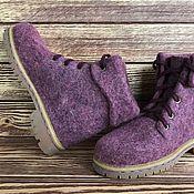 Обувь ручной работы. Ярмарка Мастеров - ручная работа Ботинки валяные. Handmade.