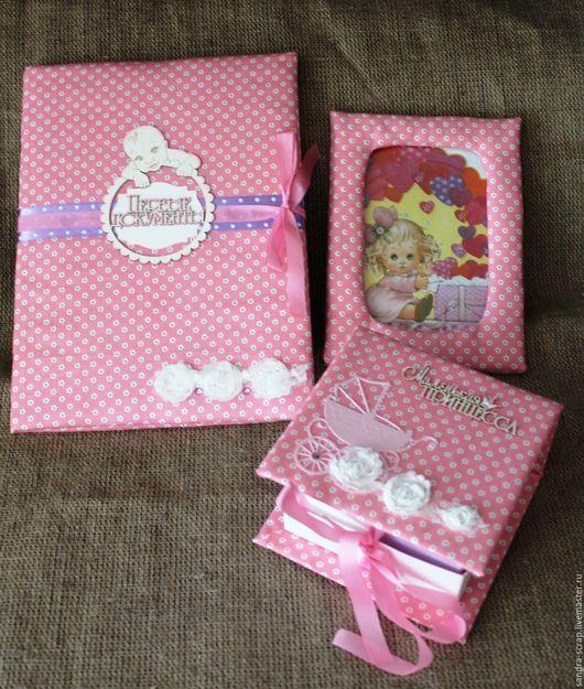 Подарки для новорожденных, ручной работы. Ярмарка Мастеров - ручная работа. Купить Набор для девочки. Handmade. Розовый, мамины сокровища