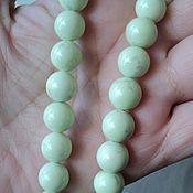 Материалы для творчества handmade. Livemaster - original item natural smooth chrysoprase beads 10mm. Handmade.