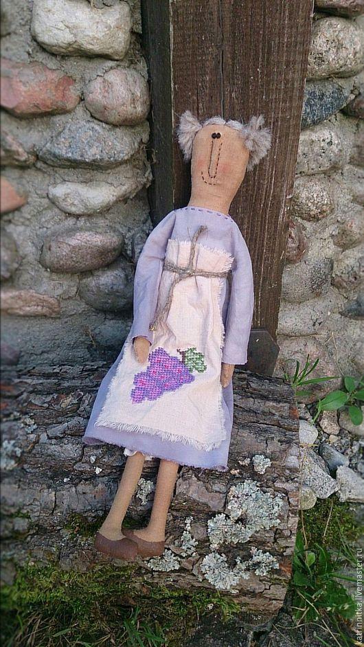 Ароматизированные куклы ручной работы. Ярмарка Мастеров - ручная работа. Купить Кукла авторская Мадам Грапа. Handmade. Виноград