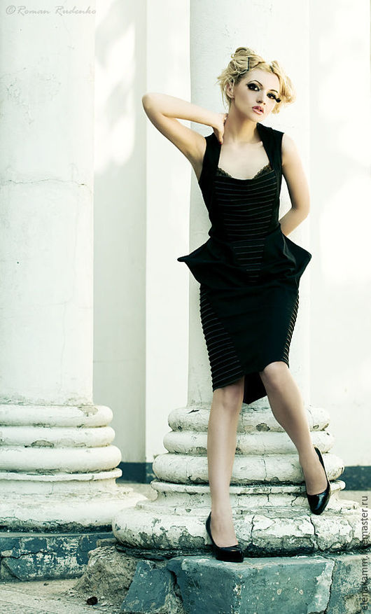 """Платья ручной работы. Ярмарка Мастеров - ручная работа. Купить Платье """"Черные шипы"""". Handmade. Маленькое черное платье, платье"""