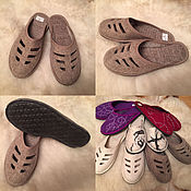 Обувь ручной работы. Ярмарка Мастеров - ручная работа Тапки из натурального войлока женские. Handmade.