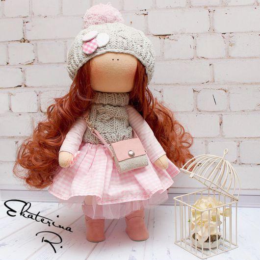 Куклы тыквоголовки ручной работы. Ярмарка Мастеров - ручная работа. Купить Интерьерам текстильная кукла. Handmade. Кукла ручной работы