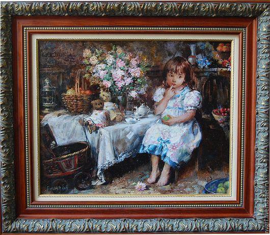 """Люди, ручной работы. Ярмарка Мастеров - ручная работа. Купить Картина """" Даянка"""".. Handmade. Детский портрет, девочка, подарок"""