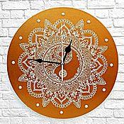 Для дома и интерьера handmade. Livemaster - original item Wall clock Yin-Yang Openwork Mandala Hand-painted. Handmade.