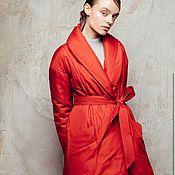 Одежда handmade. Livemaster - original item Women`s insulated coat Viki. Handmade.