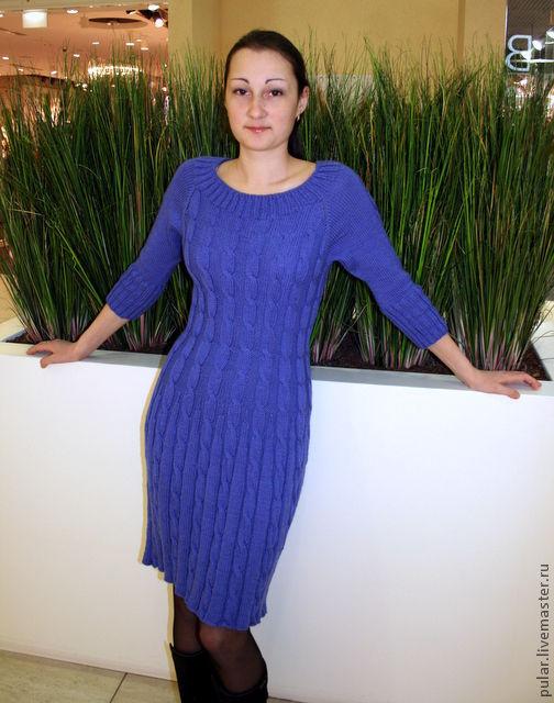 Платья ручной работы. Ярмарка Мастеров - ручная работа. Купить платье Сапфир. Handmade. Синий, косички, купить в питере