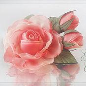 Украшения ручной работы. Ярмарка Мастеров - ручная работа Брошь Роза с бутонами. Handmade.