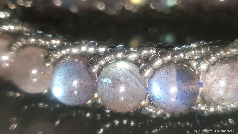 Bracelet of Labradorite Blue one-piece, Bead bracelet, Moscow,  Фото №1