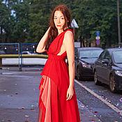 """Одежда ручной работы. Ярмарка Мастеров - ручная работа Вечернее платье """"Красная роза"""". Handmade."""