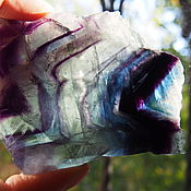 Материалы для творчества ручной работы. Ярмарка Мастеров - ручная работа Флюорит срез камня. Handmade.