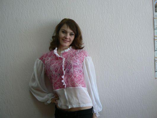 Пиджаки, жакеты ручной работы. Ярмарка Мастеров - ручная работа. Купить блузка. Handmade.