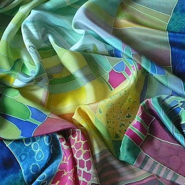 Аксессуары ручной работы. Ярмарка Мастеров - ручная работа Шелковый платок батик Пейзаж. Handmade.