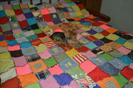 Текстиль, ковры ручной работы. Ярмарка Мастеров - ручная работа. Купить Одеяло лоскутное в стиле Раг. Handmade. Комбинированный, трикотаж