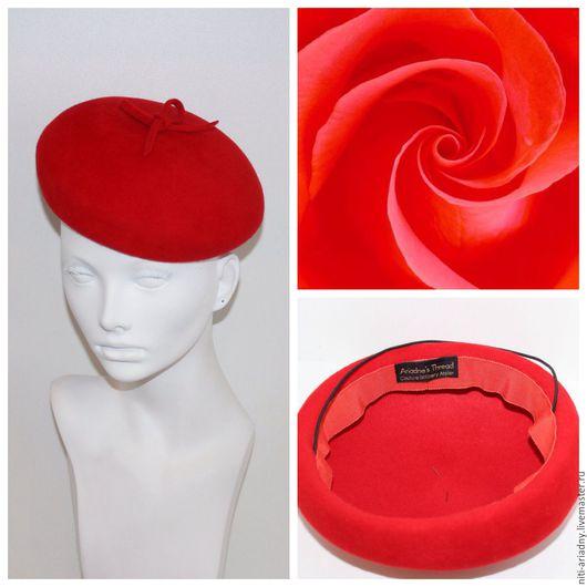 Берет `Красный Валентино`