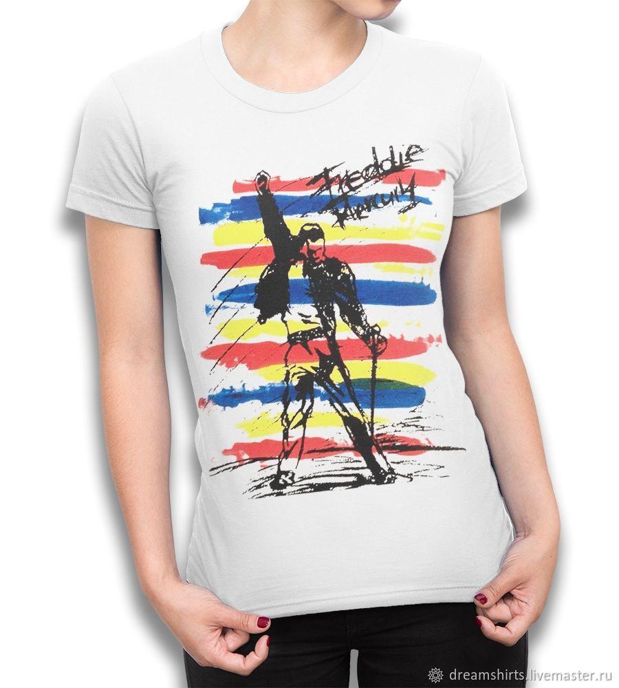 "Футболка хлопковая ""Фредди Меркьюри - Queen"", T-shirts, Moscow,  Фото №1"
