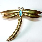 Винтаж handmade. Livemaster - original item Brooch in the shape of a dragonfly. Handmade.