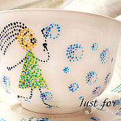 Посуда ручной работы. Ярмарка Мастеров - ручная работа Танец с мыльными пузырями. Handmade.