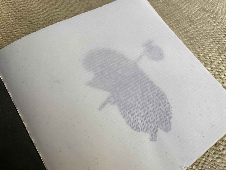 Ёжик в тумане, Каллиграфия острым пером, Открытки, Москва, Фото №1