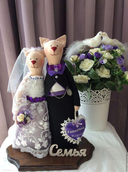 Подарки на свадьбу ручной работы. Ярмарка Мастеров - ручная работа. Купить Коты неразлучники свадебные (в стиле Тильда). Handmade.
