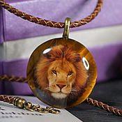Украшения handmade. Livemaster - original item Lion pendant lacquer miniature. Handmade.