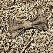 Галстуки ручной работы. Ярмарка Мастеров - ручная работа Галстук-бабочка в коричневых тонах. Handmade.