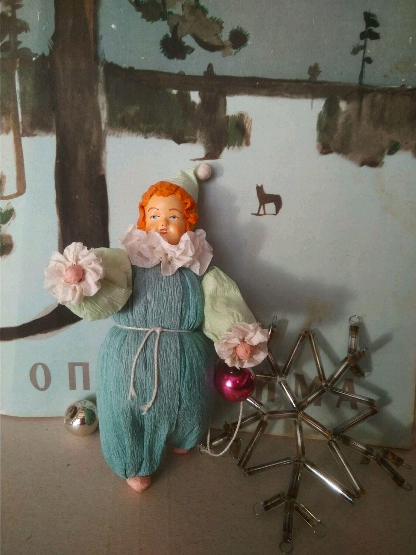 Ватная игрушка Клоун, Мини фигурки и статуэтки, Харьков,  Фото №1