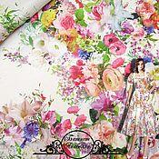 """Материалы для творчества handmade. Livemaster - original item Батист Blumarine """"Анабелла"""" итальянские ткани. Handmade."""