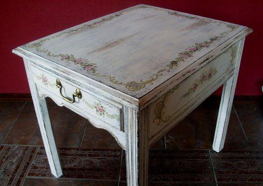 Мебель ручной работы. Ярмарка Мастеров - ручная работа. Купить Кофейный столик. Handmade. Ручная роспись, старение, акрил