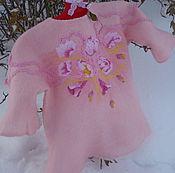 Работы для детей, ручной работы. Ярмарка Мастеров - ручная работа Джемпер для девочки Розовое облачко. Handmade.