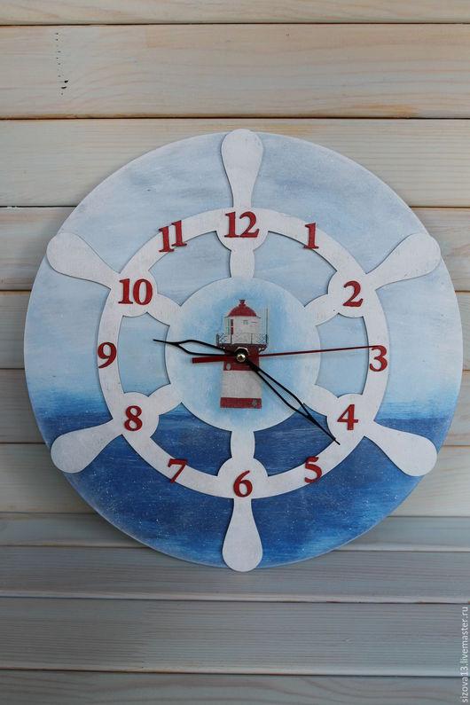 """Часы для дома ручной работы. Ярмарка Мастеров - ручная работа. Купить Часы """" Вспоминая море..."""". Handmade. Голубой"""