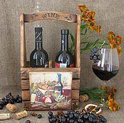 Для дома и интерьера handmade. Livemaster - original item Box for wine. Handmade.