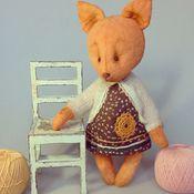 Куклы и игрушки ручной работы. Ярмарка Мастеров - ручная работа Тедди лисичка Арина. Handmade.
