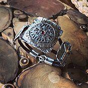 Фен-шуй и эзотерика handmade. Livemaster - original item Bracelet with Avishalom (Helmet of Horror) and Algiz runes. Handmade.
